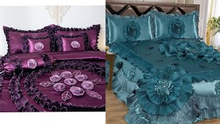 Hand embroidery : classic embroidery bedding set & bridal bed sheets designs