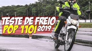IMPRESSIONANTE! TESTE NOVA POP 110i 2019 CBS vs SÓ FREIO TRASEIRO - Motorede