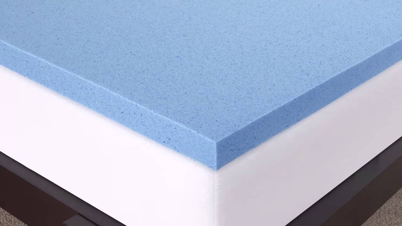 Novaform 3 Gel Memory Foam Mattress Topper Youtube