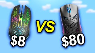 $8 Mouse vs $80 Mouse - Minecraft PvP