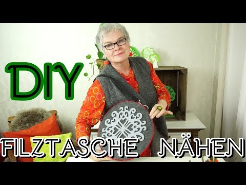 DIY :FILZTASCHE selber nähen- ohne NÄHMASCHINE