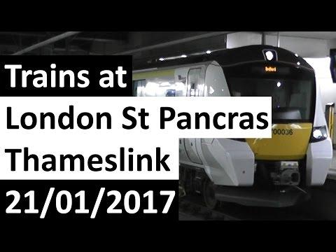 Trains at London St Pancras Thameslink 21/01/2017