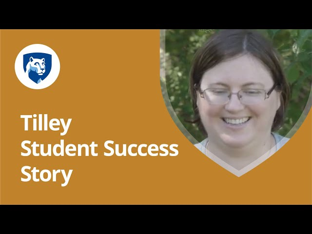 Watch Why I'm Earning My Degree Online with Penn State World Campus: Carrie Tilley's Story on YouTube.