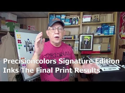 Precisioncolors Signature Edition Inks The FInal Print Results