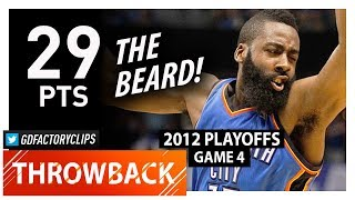 Throwback: James Harden Game 4 Highlights vs Mavericks (2012 Playoffs) - 29 Pts, 15 in 4th Qtr!!