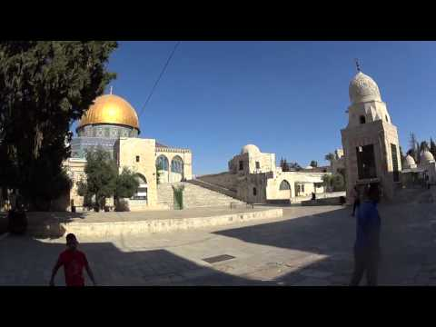 The Temple Mount and the Dome of the Rock, Old Jerusalem - Listen to the muezzin