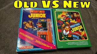 Intellivision Donkey Kong Jr. Old vs.New