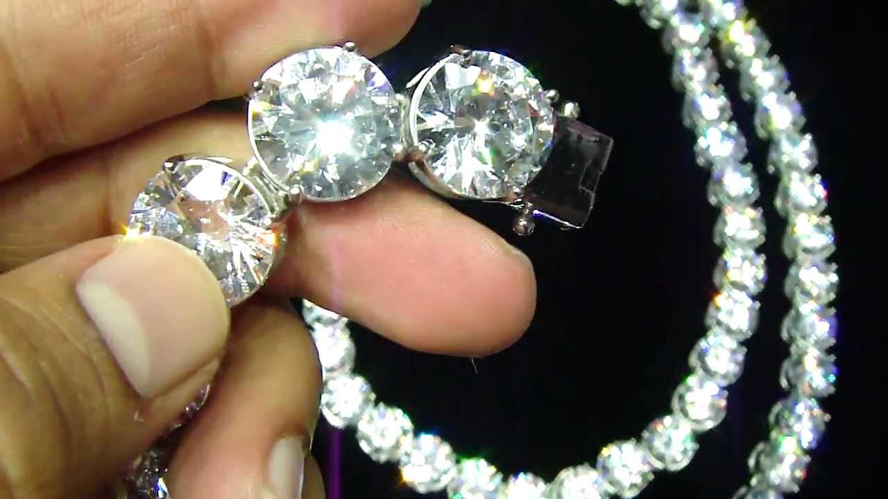 Mr chris da jeweler custom rick ross style 25 inch necklace with 10 mr chris da jeweler custom rick ross style 25 inch necklace with 10 carat each lab diamond aloadofball Gallery