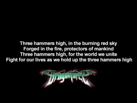 DragonForce - Three Hammers | Lyrics on screen | Full HD