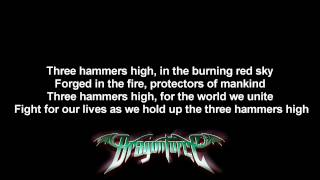 DragonForce - Three Hammers | Lyrics on screen | Full HD