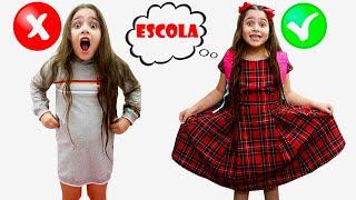 HELOÍSA E SUA ROTINA MATINAL DA ESCOLA! Heloísa and her school morning routine