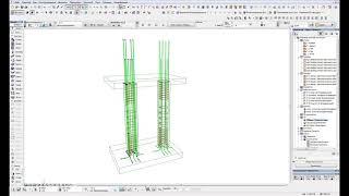 Армирование  колонн в ArchiCAD