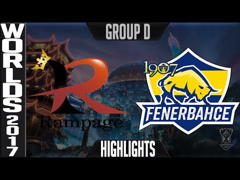 Rampage vs 1907 Fenerbahçe Espor Highlights Game 1 S7 Worlds 2017 Play in Group D RMP vs FB