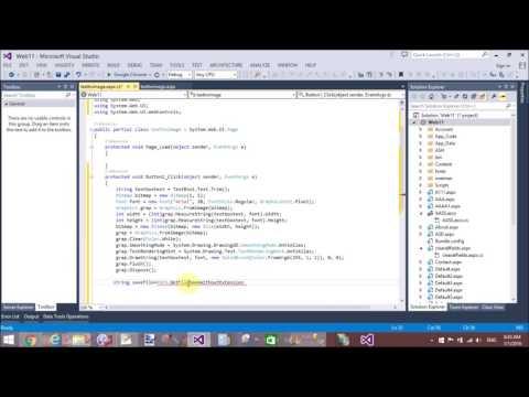 Convert Text 2 Image in ASP.NET C#