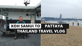 Koh Samui to Pattaya - Traveled in Tropical Storm | EP 5 Thailand Myanmar Backpack Trip