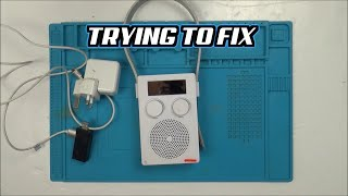 Trying to FIX a SPLASH-PROOF SHOWER RADIO