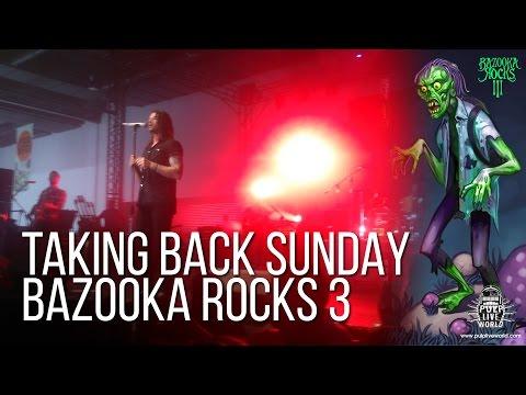 Taking Back Sunday Live at Bazooka Rocks 3 Full Set