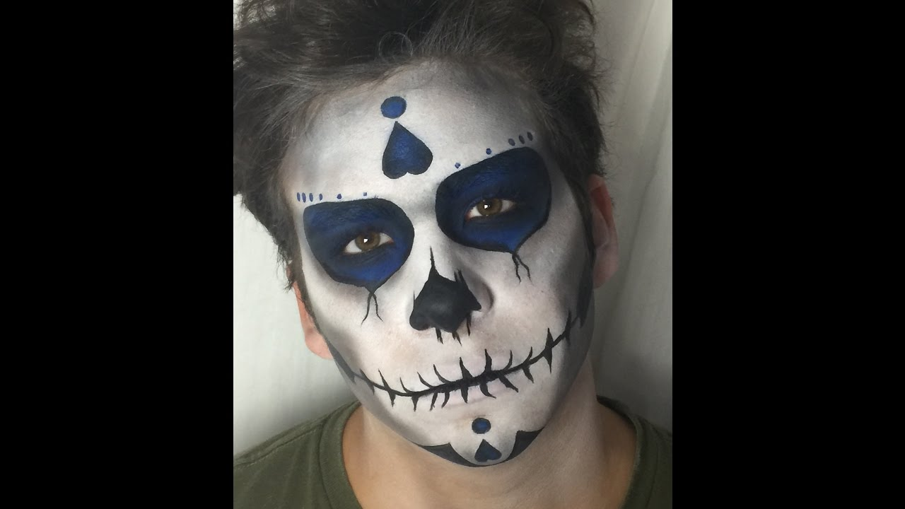 Maquillage mexicain homme facile - Maquillage squelette mexicain ...
