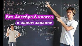 Математика| Алгебра 8 класса в одном задании.
