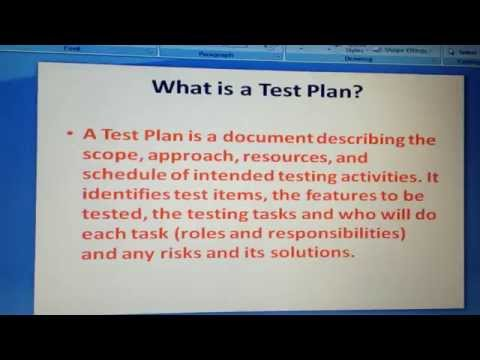 what is test plan? Software testing interview questions and answers