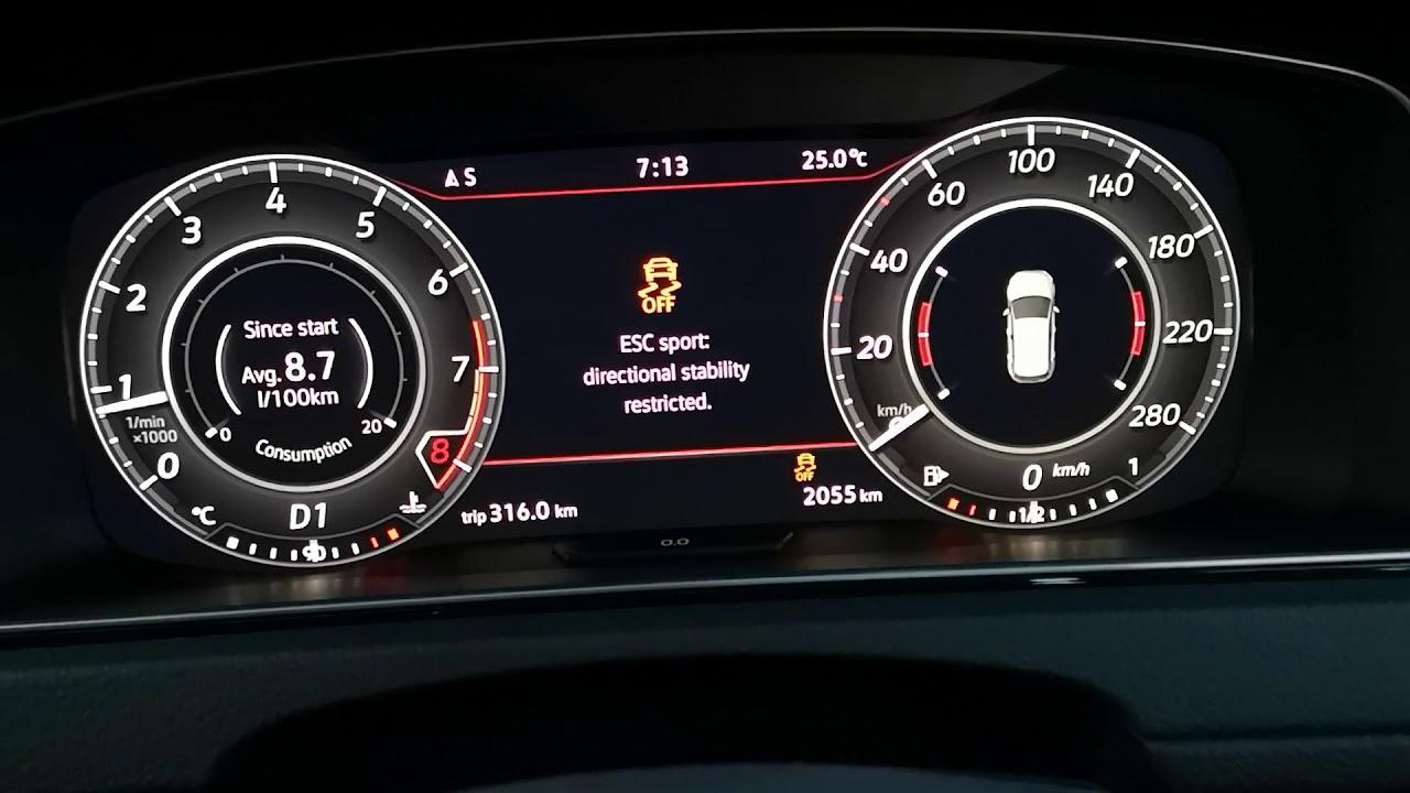 volkswagen golf mk 7 5 gti launch control 0 100km h youtube