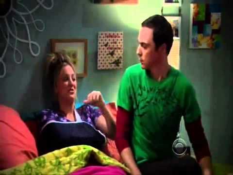Sheldon singing soft Kitty to Penny