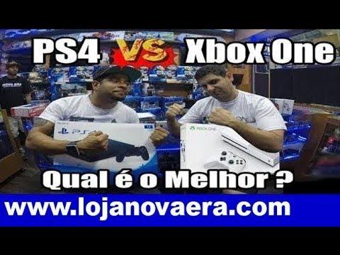 PS4 Slim vs Xbox One s Comparação Escolha Qual é Melhor Comprar em 2018 - Santa Efigênia Playstation