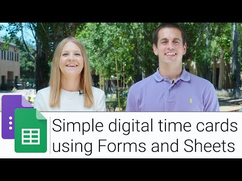 Digital Time Card using Forms and Sheets   The G Suite Show