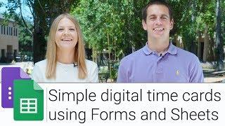Formları ve Sayfaları kullanarak dijital Kart G Suite Göster |