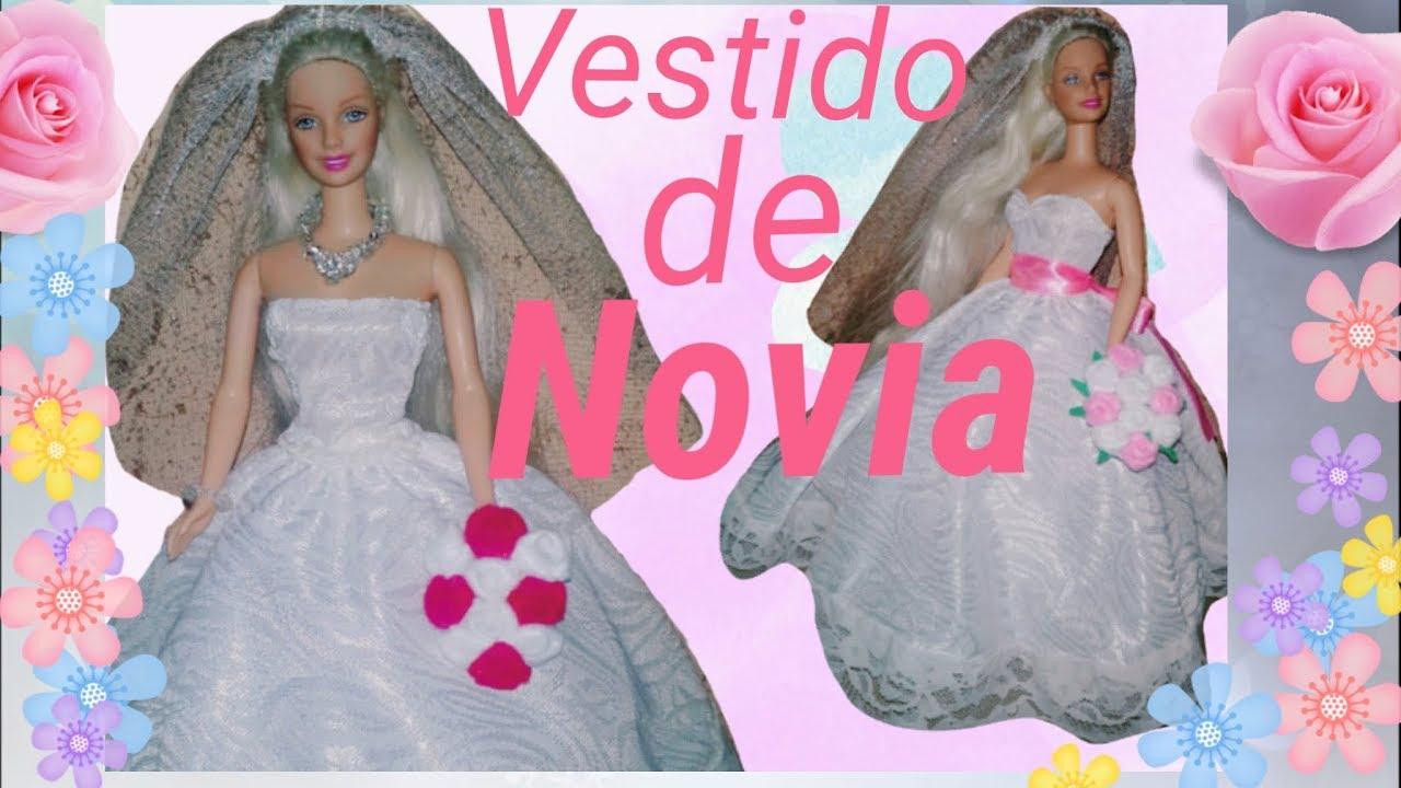 Vestido de novia para barbie - YouTube