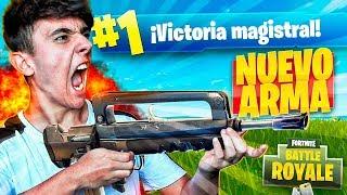 EPIC VICTORIA con LA NUEVA ARMA LEGENDARIA de FORTNITE: Battle Royale!! - Agustin51