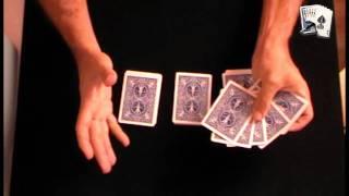 Truco de magia revelado: 4 ases al corte del espectador