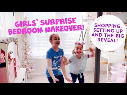 GIRLS' SURPRISE ROOM MAKEOVER