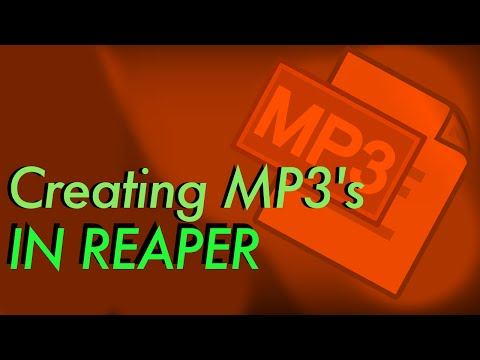 HOW TO: Rendering MP3s with Reaper