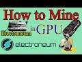 ⚒⛏How to Mine Electroneum Coin in GPU Urdu/Hindi By Zakria 2018⛏⚒