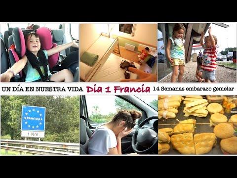VACACIONES FRANCIA DÍA 1 (14 semanas embarazo gemelar) ATRAPADOS EN EL COCHE, HOTEL FANTASMA !