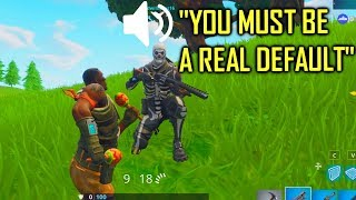 skull trooper guy thinks i'm a real default skin on Fortnite...