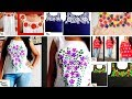 My Hand Painted Designer TOPS Collection (Part-1) | Fabric Painting Designs | Latest Tops Designs