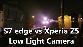 Samsung Galaxy S7 edge vs Sony Xperia Z5 Camera Low Light Test at Night