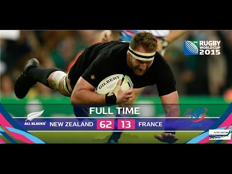 Rugby World Cup 2015 'full match' 2nd Quarter Final   New Zealand vs France