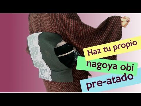 DIY Tutorial hacer un  Nagoya Obi Pre-Atado| おしゃれな簡単帯の作り方 |  Por Kimono Fashion