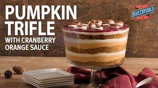Pumpkin Trifle with Cranberry Orange Sauce