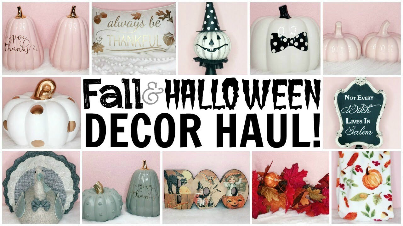 Fall Halloween Decor Haul Girly Traditional Vintage