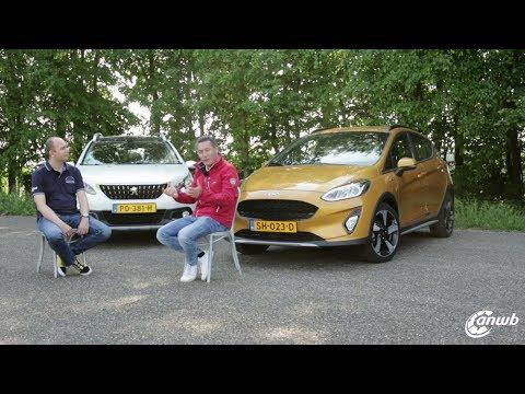 ANWB Dubbeltest Ford Fiesta Active vs. Peugeot 2008 2018