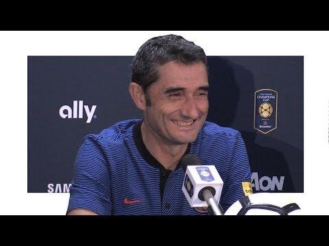 Barcelona 1-0 Manchester United - Ernesto Valverde Post Match Press Conference - Man Utd Tour 2017