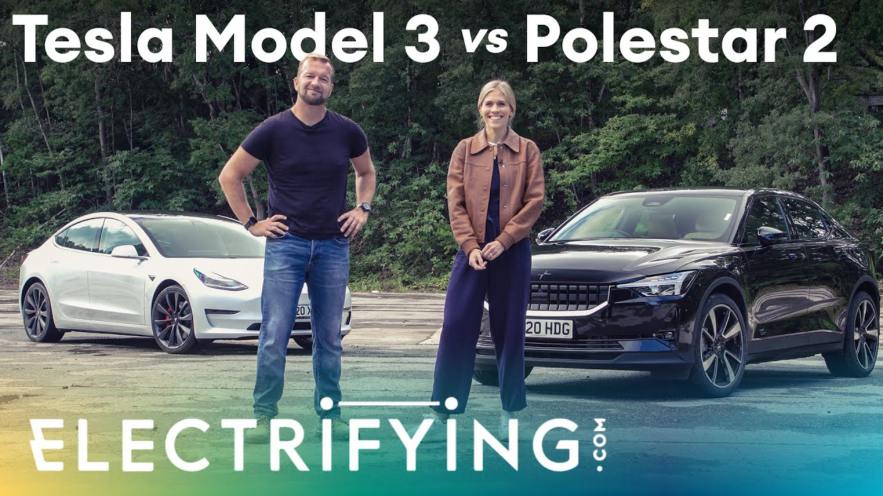 Tesla Model 3 vs Polestar 2: In-depth review with Nicki Shields & Tom Ford / Electrifying