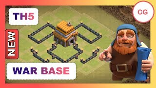 Town Hall 5 War Base for Clan War League | Clash Of Clans | Clash Guide