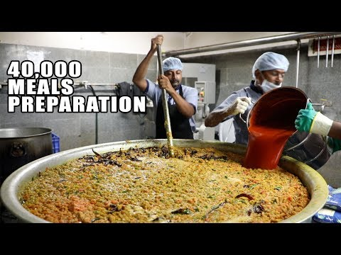 Amazing Food Preparation for 40000 People | 5 Rs Mid Day Mea