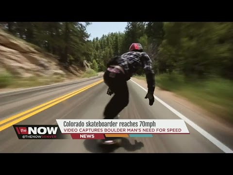 Colorado longboarder reaches 70mph, posts video to YouTube