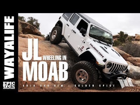 MOAB : IT STARTS AGAIN - Part 1 / JEEP JL WRANGLER on Gold Bar Rim & Golden Spike Trail